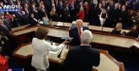 TRUMP SNUBS PELOSI: President IGNORES Nancy's motion to shake hands