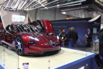 Новый электрокар Fisker EMotion показали на выставке CES 2018 в Лас-Вегасе