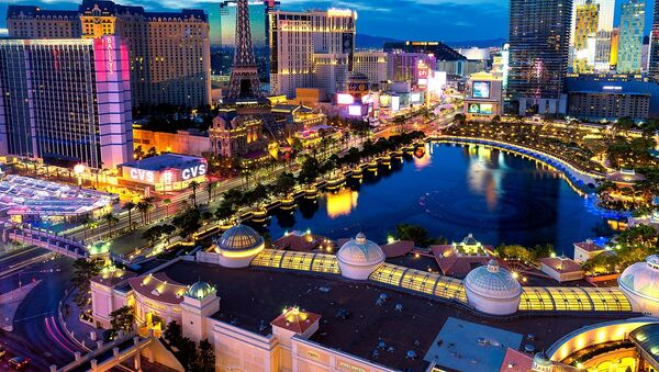 An aerial view on Las Vegas, the United States - Sputnik Oʻzbekiston