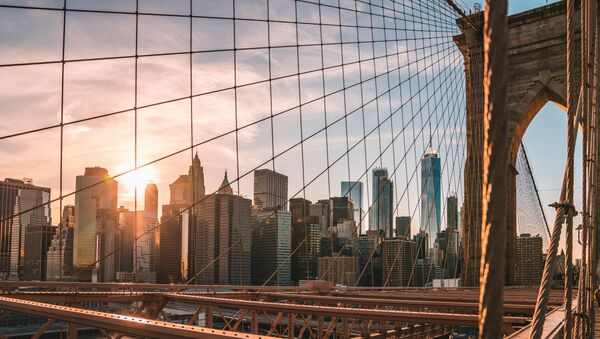 A view from the Brooklyn Bridge on New York - Sputnik Oʻzbekiston