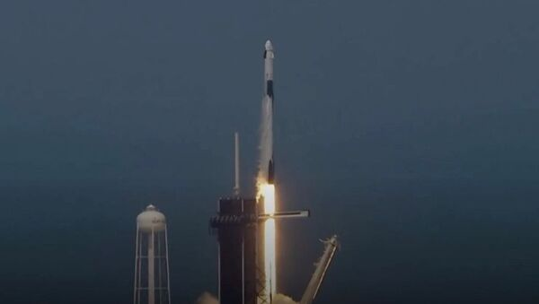 Nasa and SpaceX successfully launch Crew Dragon Spacecraft and astronauts to ISS - Sputnik Узбекистан